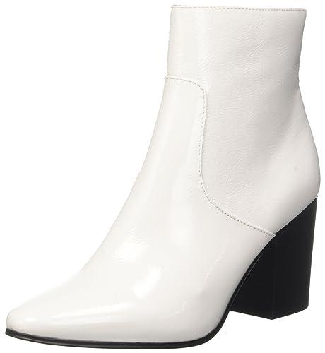 Calvin Klein Adrienne Crinkle Patent, Botines para Mujer: Amazon.es: Zapatos y complementos