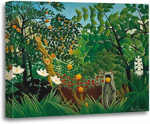 Amazon.com: TORASS Canvas Wall Art Print Jungle Henri Rousseau