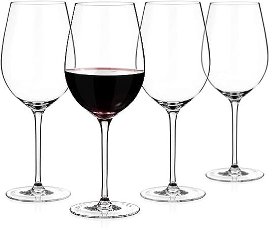 Dartington Crystal Large Red Wine Glasses 650ml Capacity