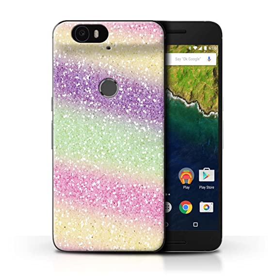 online store 895e1 4b2be STUFF4 Phone Case/Cover for Huawei Nexus 6P / Unicorn Rainbow  Design/Glitter Pattern Effect Collection