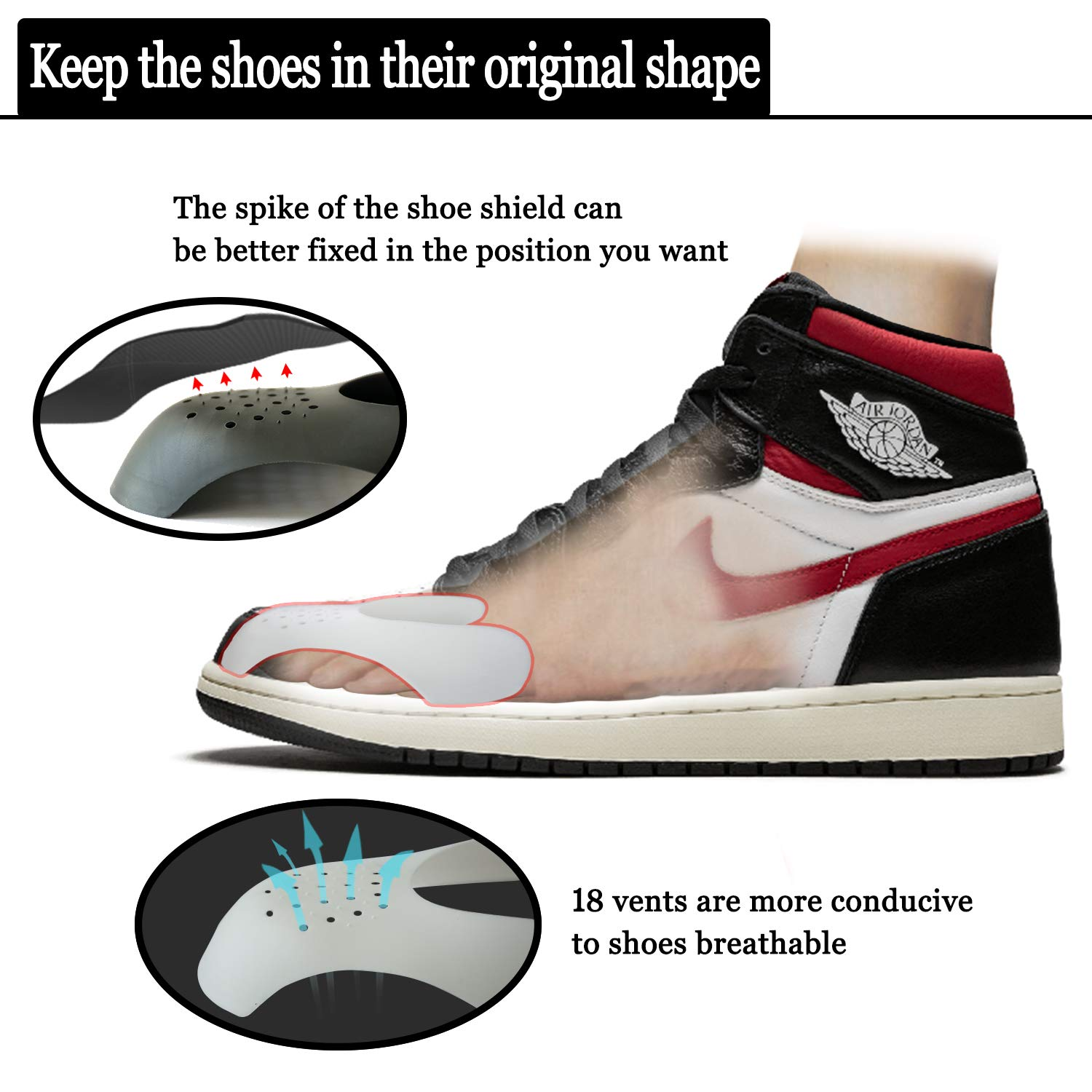Shoe Crease Protectors for sneakers