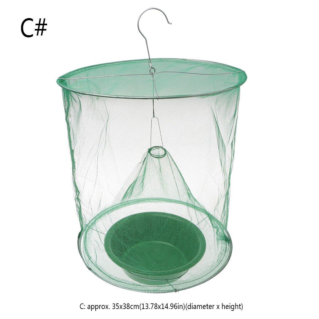 Guoyy Zanzariera riutilizzabile verde per cacciatori di zanzare, gabbia di rete, inserto di bloccaggio