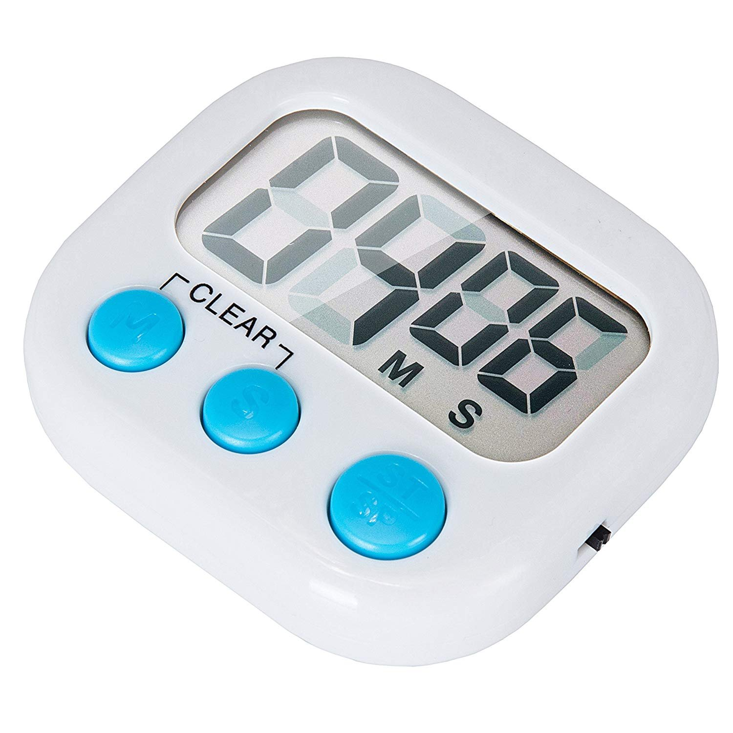 6 Pack Small Digital Kitchen Timer Magnetic Back And ON/OFF Switch,Minute Second Count Up Countdown by LinkDm (Image #3)