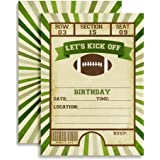 """Football Ticket Birthday Party Invitations, Ten 5""""x7"""" Fill In Cards with 10 White Envelopes by AmandaCreation"""