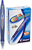 Pilot G6 Retractable Gel Ink Rolling Ball Pen, Fine Point, Blue Ink, 1 Dozen pens per Box (31402)