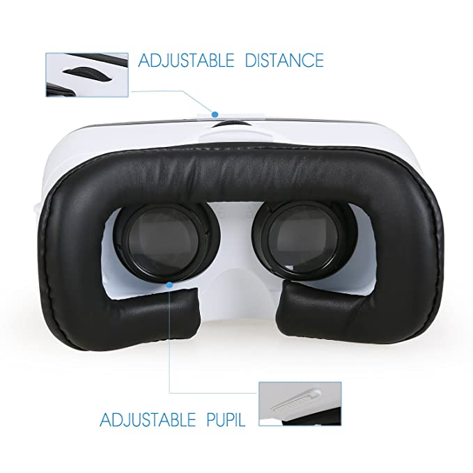 e7b55c5a94f Holy Stone 3D VR Headset Virtual Reality Glasses with Adjustable Lens and  Strap for Drone