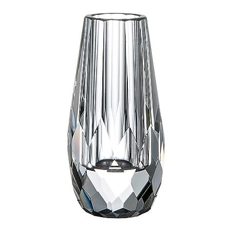 Donoucls Mini Bud Vase Hand Cut Crystal Flower Vases Clear 6x12cm