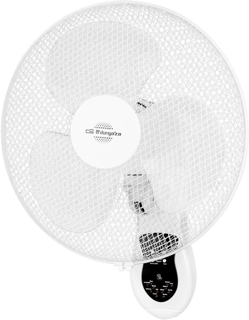 Orbegozo WF0242 Ventilador de pared, mando a distancia, 3 ...