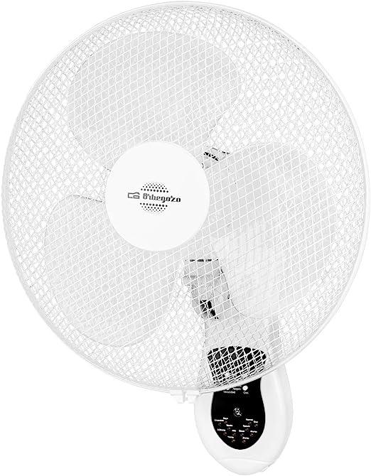 Orbegozo WF0242 Ventilador de pared, mando a distancia, 3 velocidades de ventilación, cabezal oscilante multiorientable, temporizado, 40 W: Amazon.es: Hogar