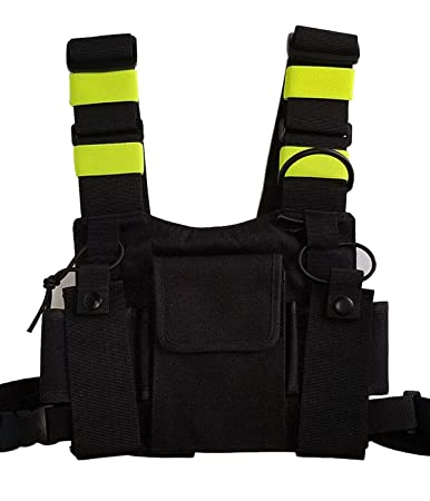 71riVe79dlL._SY450_ amazon com lewong universal hands free chest harness bag holster radio harness color code at bayanpartner.co