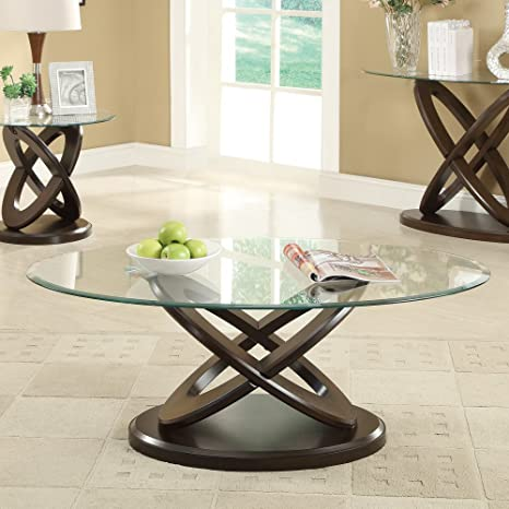 Outstanding Coaster Oval Glass Top Coffee Table In Cappuccino Alphanode Cool Chair Designs And Ideas Alphanodeonline