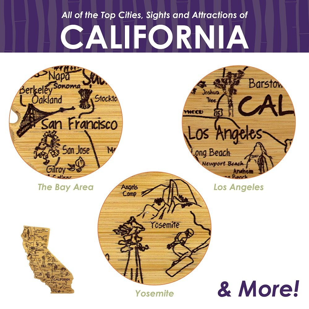 Totally Bamboo California State Destination Bamboo Serving and Cutting Board by Totally Bamboo (Image #3)