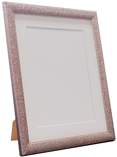 Frames By Post Glitz Rose Gold Picture Photo Frame With White Mount