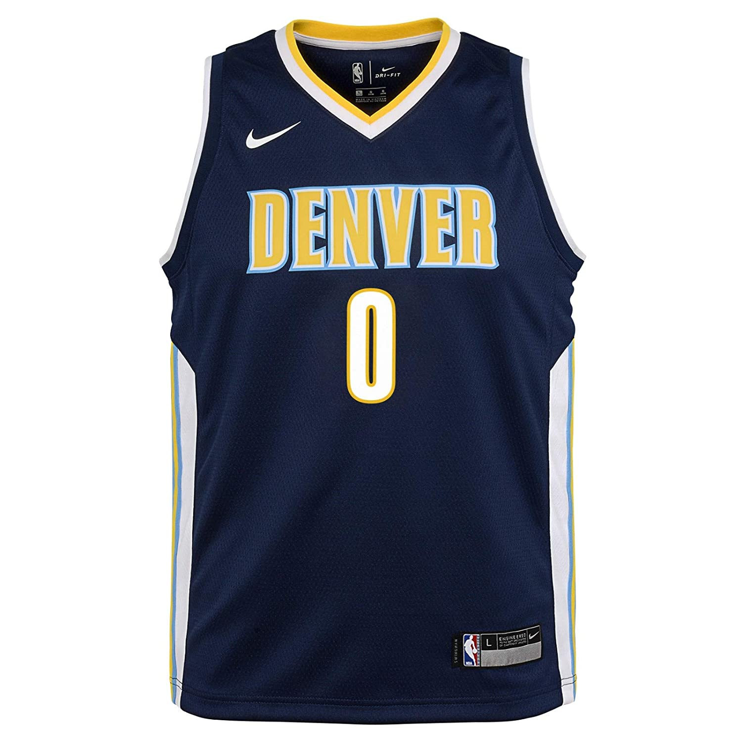 44f45f82cf81 Amazon.com   Outerstuff Emanuel Mudiay Denver Nuggets NBA Nike Youth Navy  Blue Icon Swingman Jersey   Sports   Outdoors
