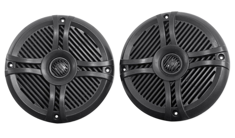 Rockville Rmsts65b Pair 6.5-Inch 800w Waterproof Marine Boat Speakers 2-Way Black Audiosavings