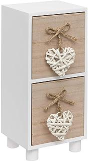 Armadietto in Legno dal Design Vintage Stoccaggio in Stile Shabby Chic com-four/® Mini cassettiera con 6 cassettiere 01 Pezzo - 31,5x26x13 cm