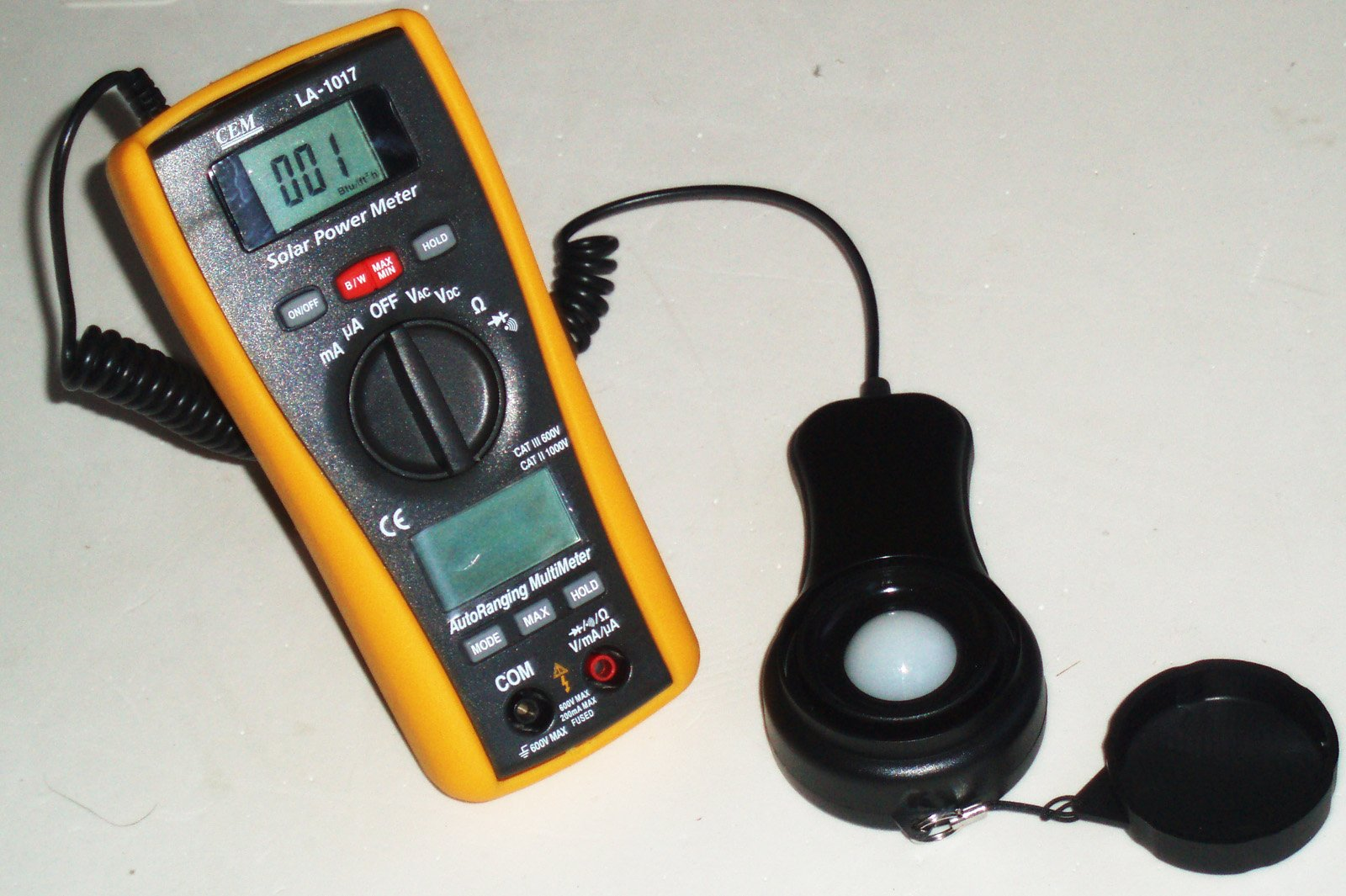 LA-1017 Sun Power Solar Energy Sunlight Meter with DMM Digital Multimeter by Ruby Electronics (Image #3)