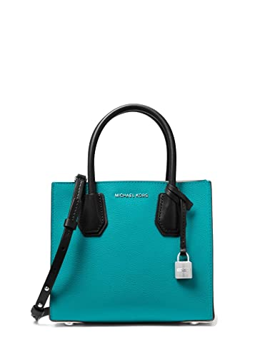 94e10a08145e MICHAEL Michael Kors Mercer Color-Block Leather Crossbody Bag - Teal Blue:  Handbags: Amazon.com