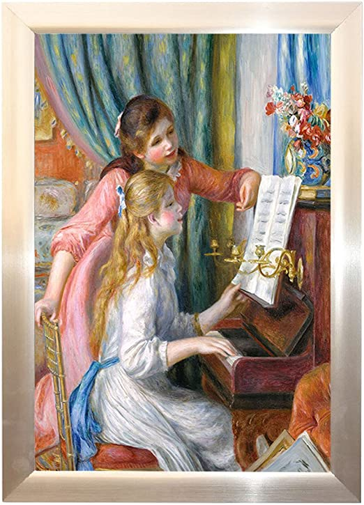 by Pierre-Auguste Renoir Giclee Repro on Canvas 1 Young girls at the piano