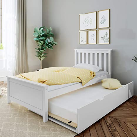 max lily bed with trundle twin white