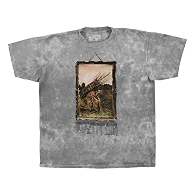 8661d8f1 Amazon.com: Led Zeppelin Zep IV Album Cover - Adult T-Shirt: Clothing