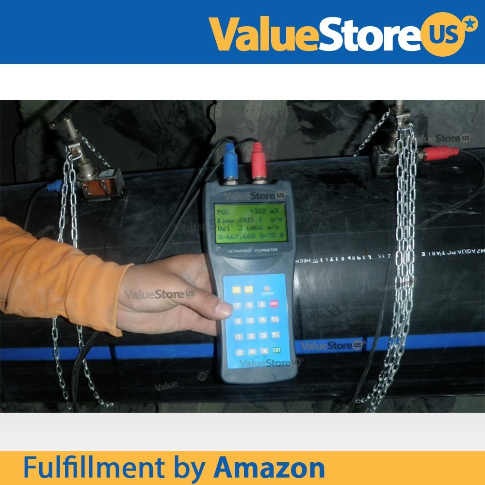 Portable Digital Ultrasonic Flow Meter USF-100 with S & M Transducers for Pipes from 0.76 to 27 inch (20 to 700 mm) & from -40°F to 320°F (-40°C to 160°C). by ValueStore.us (Image #4)