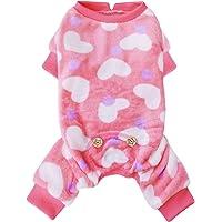 Pijama Kyeese para perros con diseño de corazón, material suave, elástico, para el día de San Valentín