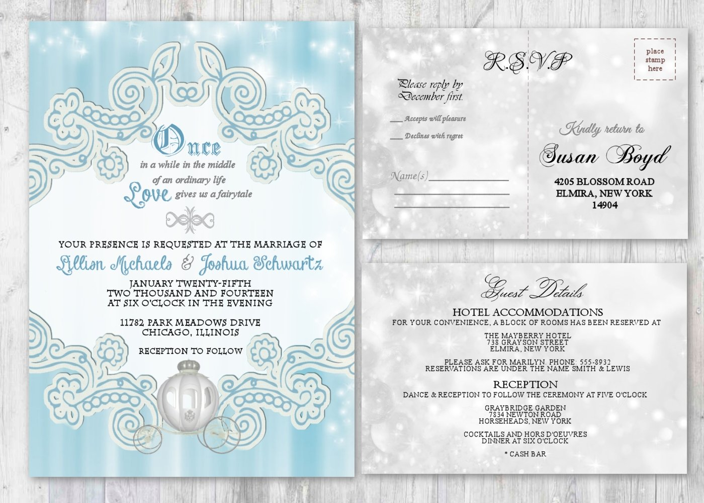Amazon Com Fairytale Wedding Invitations And Matching Cards