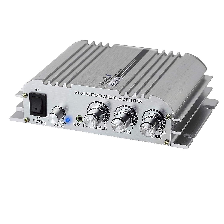 LiNKFOR/Mini/Amplificateur/Hi-Fi/2.1CH/Amplificateur/St/ér/éo/Classe/D/Amplificateur/2x40W/en/Alliage/dAluminium/Etui/Solide/Amplificateur/Haute/Puissanc