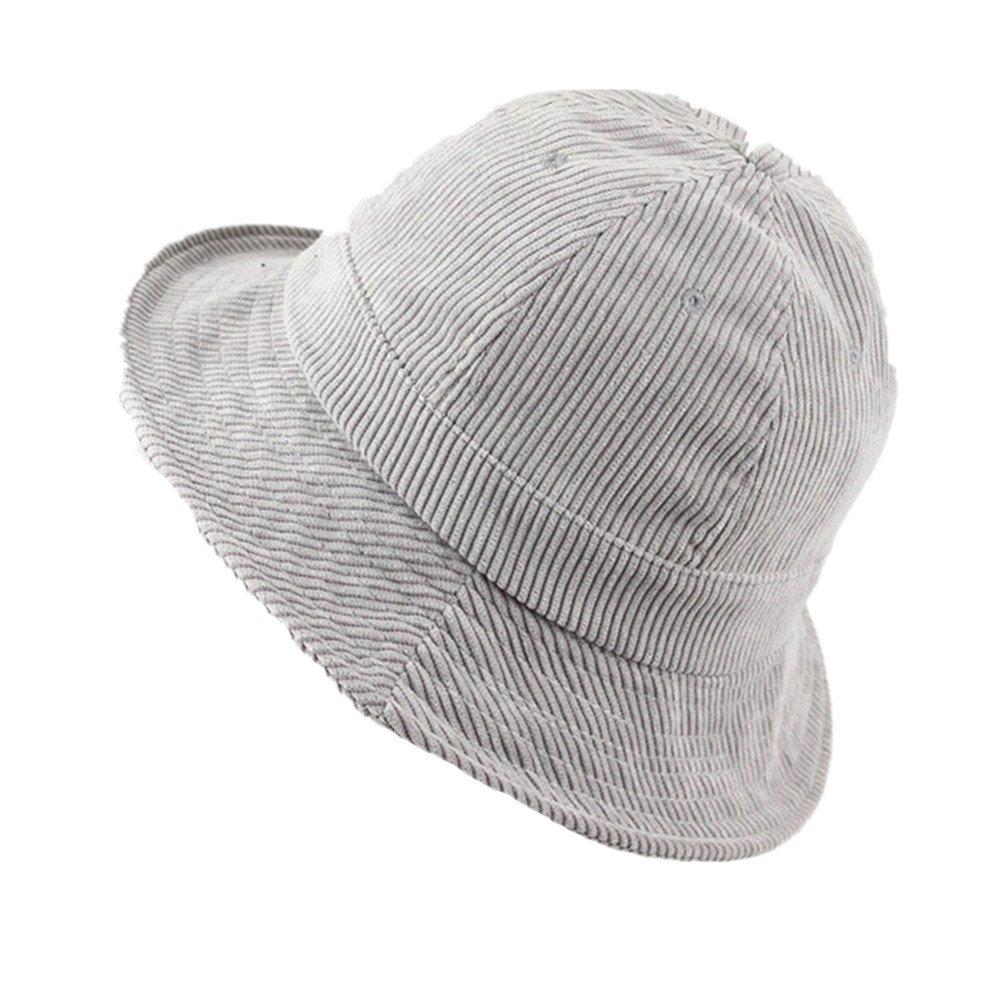 2e9c3f5ce39 Amazon.com  Fashion Corduroy Bucket Hat Breathable Casual SUN Protection  Fisherman Cap for Travel Beach Hip-Hop Fishing Hiking  Clothing