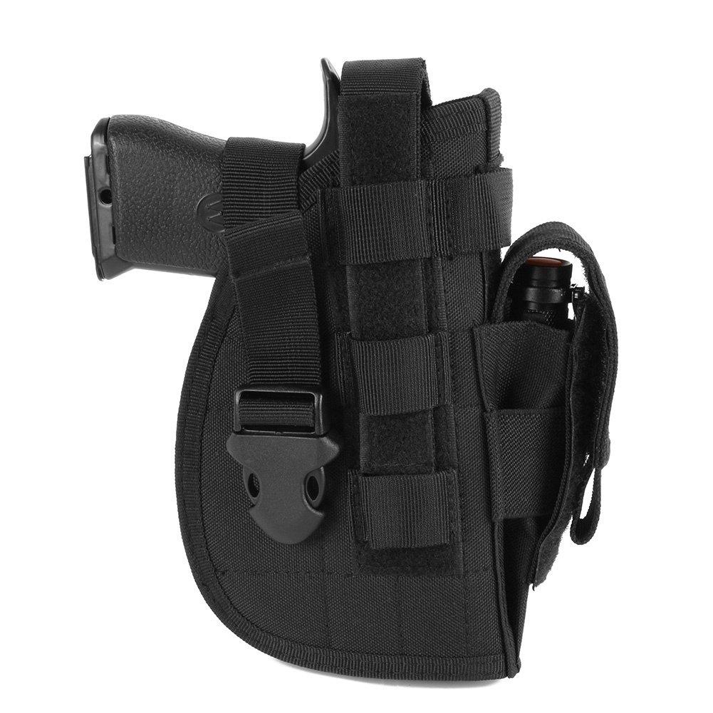 Leezo Táctica avanzadas Holster 1000d Nylon Universal Mano Derecha Molle Modular Pistola Airsoft Cinturón Caza Herramientas