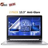 """2 Pack 13.3"""" Anti Glare Screen Protector Compatible 13.3"""" Dell Inspiron 13/13.3"""" ASUS Chromebook & ZenBook /13.3 Acer Chromebook R13 / 13.3"""" Lenovo Yoga 720"""