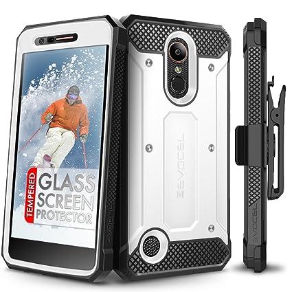 LG K20 Plus Case, Evocel [Explorer Series] with Free [LG K20 Plus Glass  Screen Protector] Premium Full Body Case [Slim Profile][Rugged Belt Clip