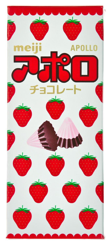 Meiji Apollo Strawberry Chocolate Pack Of 10 Yummy Bites 123 Flavor Strawbearry Grocery Gourmet Food
