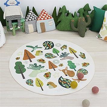 Amazon.de: GWELL Süß Tier Motiv Fußmatten Runde Teppich Kinderzimmer ...