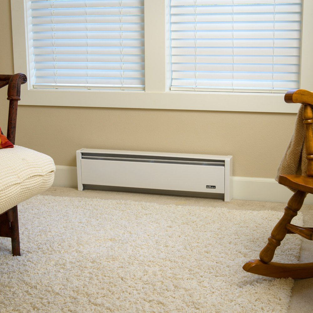 Cadet EBHN1500WLH Softheat Hydronic Baseboard Heater - Heaters ...