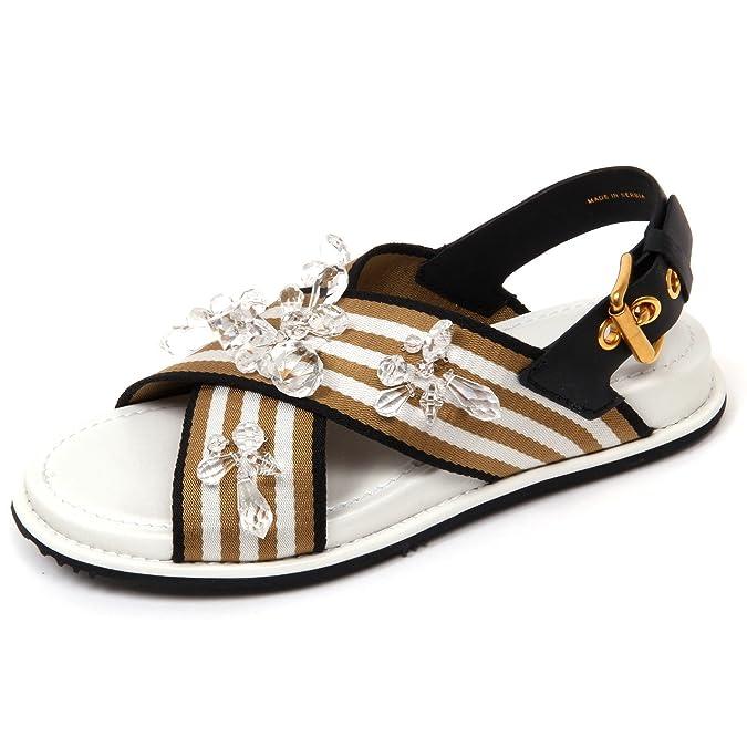 D0534 sandalo donna CAR SHOE CON MACCHIE ROSA scarpa pietre sandal shoe woman