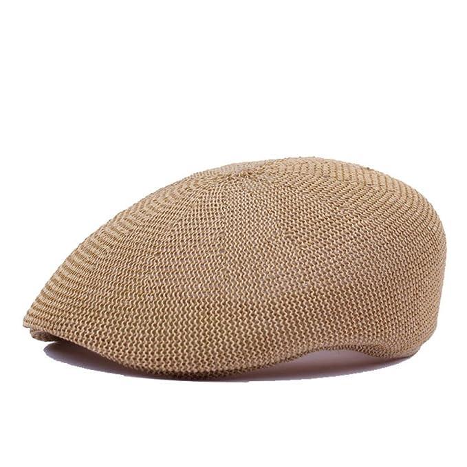 4cdf1724c07a0 Hombres Y Mujeres De Verano De Malla De Sombrero De Paja Boina Transpirable  Gorra Sombrero Comodín