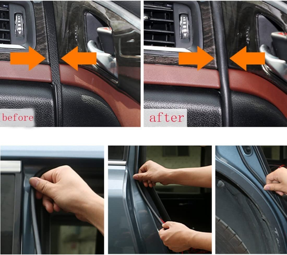 13Ft D Shape Car Door Hollow Weatherstrip Dust Wind Noise Strip for PORSCHE