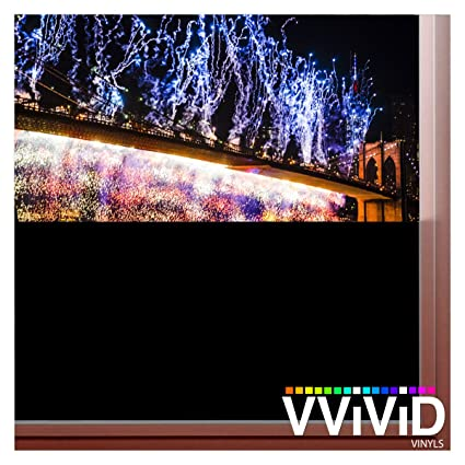 VViViD Blackout Opaque Matte Window Privacy 15ft x 60 Vinyl Film Decal Sticker Window Treatments & Hardware Window Film