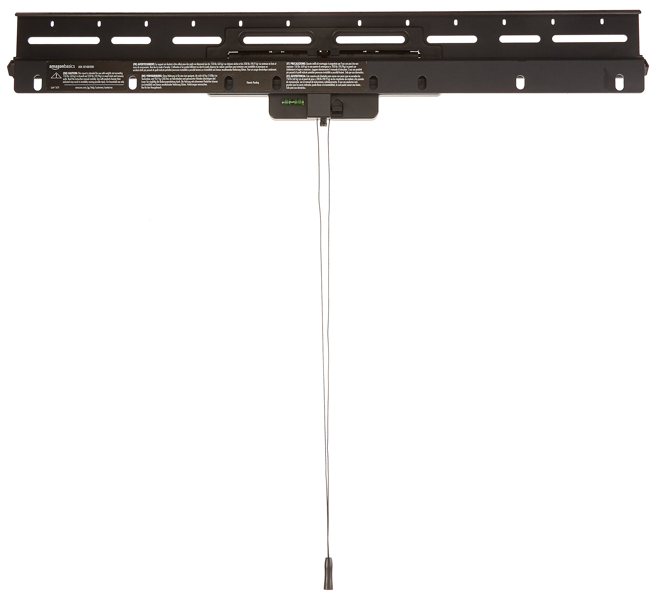 AmazonBasics No-Stud Heavy-Duty Tilting TV Wall Mount Bracket for 32-inch to 80-inch TVs