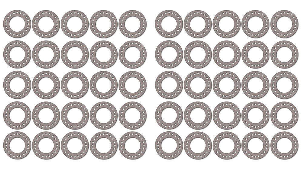 16 ID Pressure Class 300# Pack of 50 16 Pipe Size 1//8 Thick Sterling Seal CFF7540.1600.125.300X50 7540 Vegetable Fiber Full Face Gasket