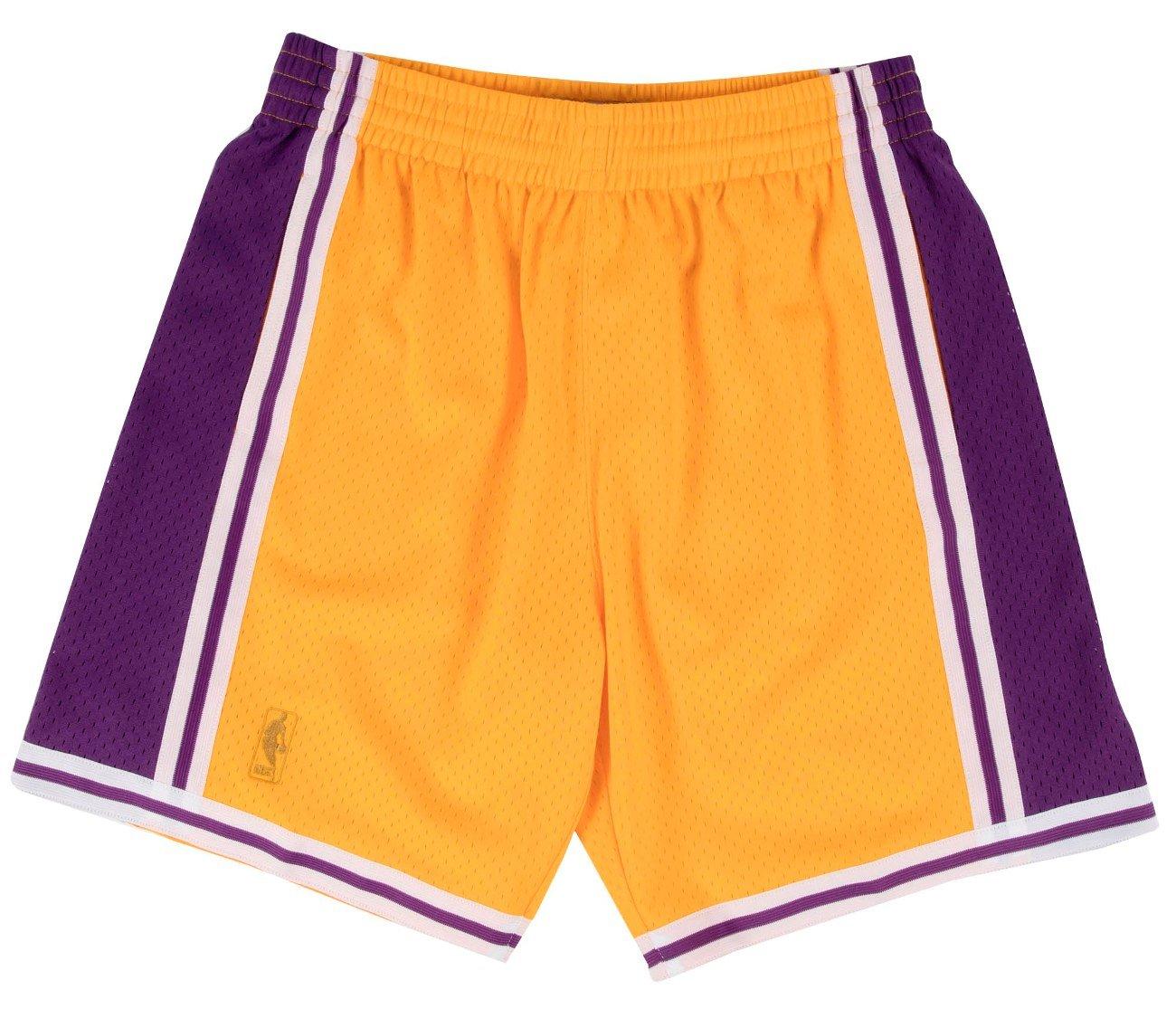 1f160351a15 Amazon.com   Mitchell   Ness Los Angeles Lakers NBA Swingman Men s Mesh  Shorts - 1996 Home   Sports   Outdoors