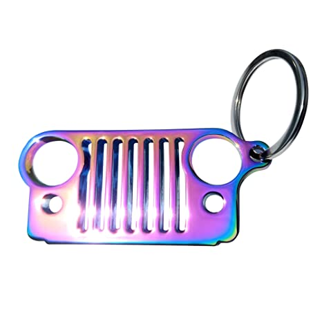 Amazon.com: Acero inoxidable llavero Jeep Grill 3d metal Key ...