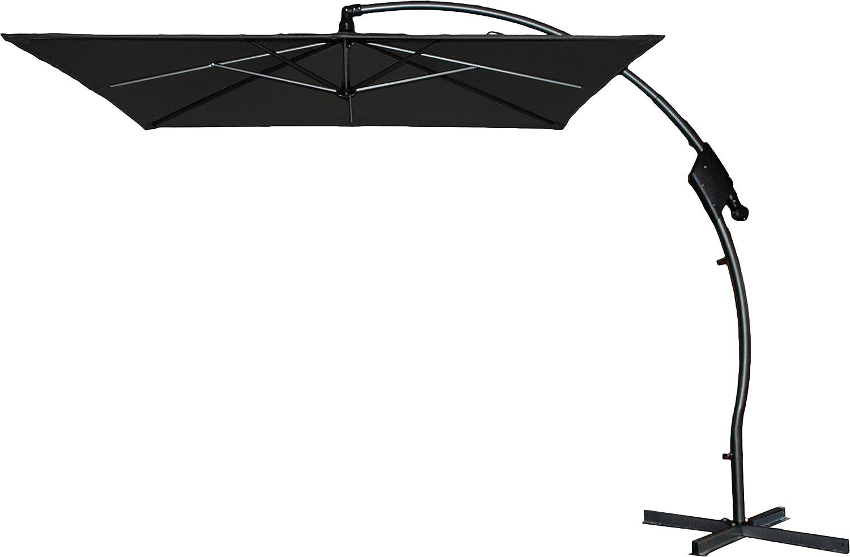Hartman Ampelschirm 250x250 cm Tenero dunkelgrau Sonnenschirm Sonnenschutz incl. Schirmfuß