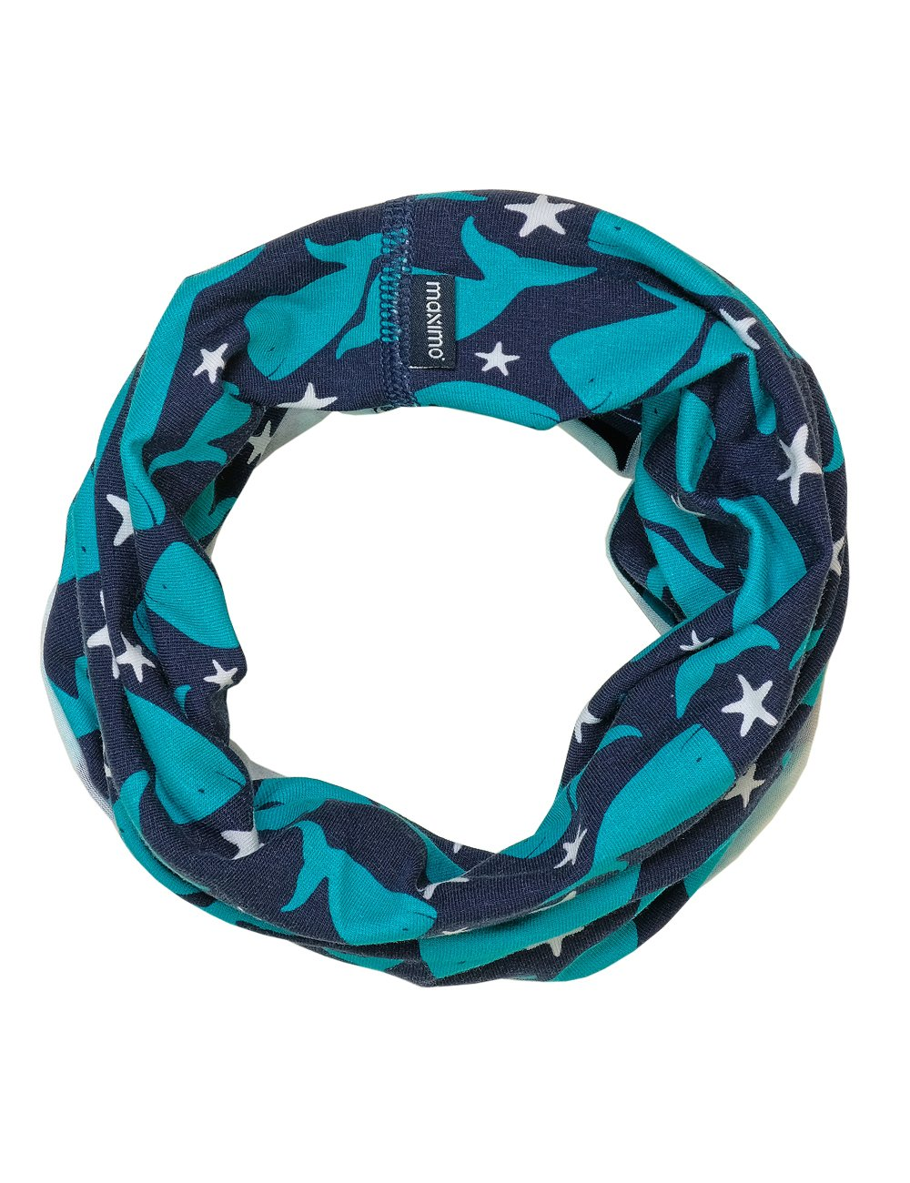 maximo Boy's Multifunktionstuch Wale Neckerchief