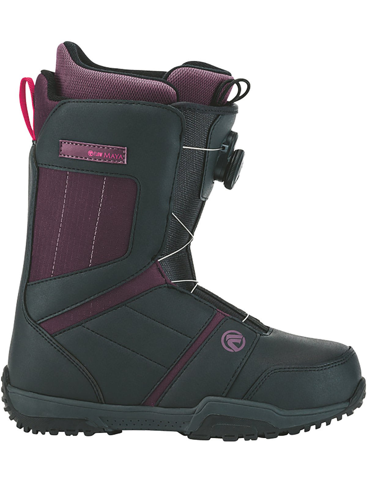 Flow Maya Boa Senior Snowboard Boots Charcoal, Purple