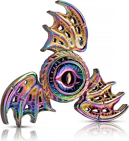 Purple Fidget Hand Spinner Toy Anxiety Stress Relief Focus EDC UFO ADHD Metallic
