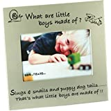 What Little Boys Are Made Of... New Baby Photo Frame, gift