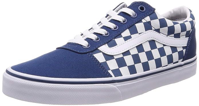 Vans Herren Ward Canvas Sneaker Blau Weiß Kariert